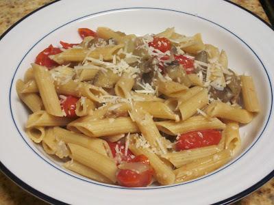 Food Frenzi: Whole-Wheat Pasta with Roasted Eggplant and Tomatoes