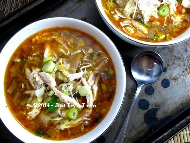 Sup Ayam Asam Pedas Chinese Hot And Sour Chicken Soup Just Try Taste