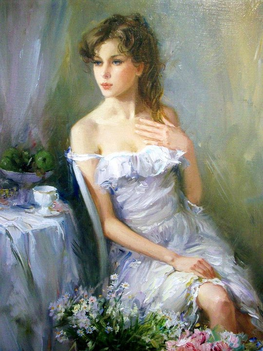 Russian Paintings Of Women Maher Art Galle...