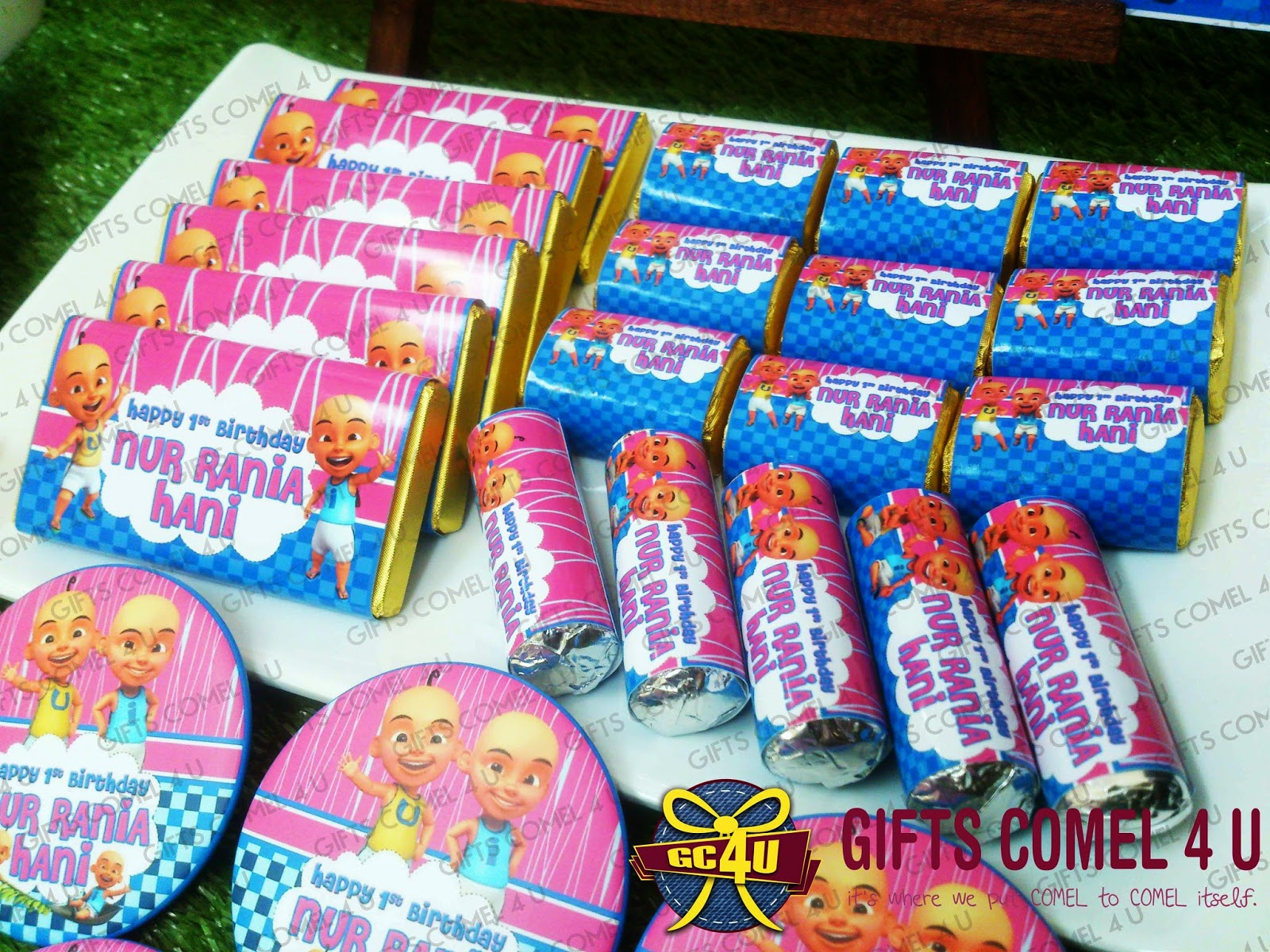 Gifts comel 4 u ordered by rasyidah binti rahit upin ipin upin ipin bluepink theme birthday set stopboris Image collections