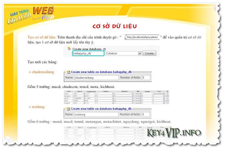 Giáo trình tiếng Việt học lập trinh PHP và cơ sở dữ liệu MySQL