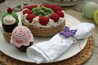 Tarta y pasteles en algodón