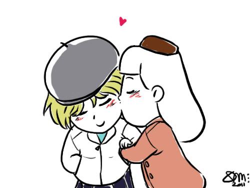 Chibi kiss gif