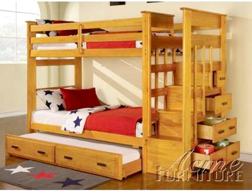 Giường hộp 3 tầng có tủ để đồ Acmer GT12NA
