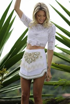 Réveillon Coleção Martha Medeiros blusa cropped branca