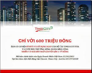 CHÍNH SÁCH ƯU ĐÃI  TIMES CITY TÒA T18