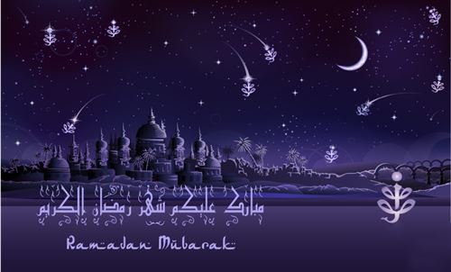 Beautiful Picture With Messages On Purple Background