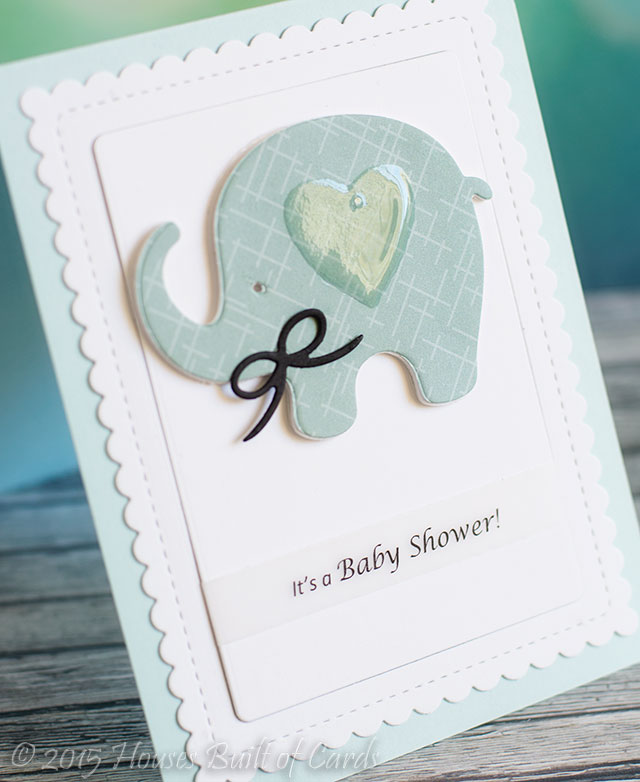 Houses Built of Cards: Baby Shower Elephant Invitations