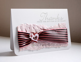 Tied to you Thank-you card