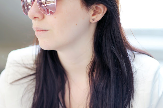 portrait pink sunglasses swallows