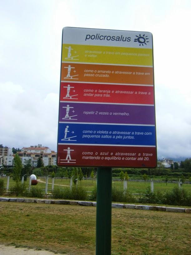 Placa de explicação do exercicio
