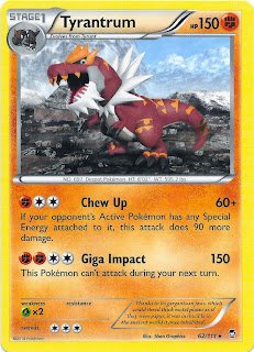 Tyrantrum Furious Fists Pokemon Card