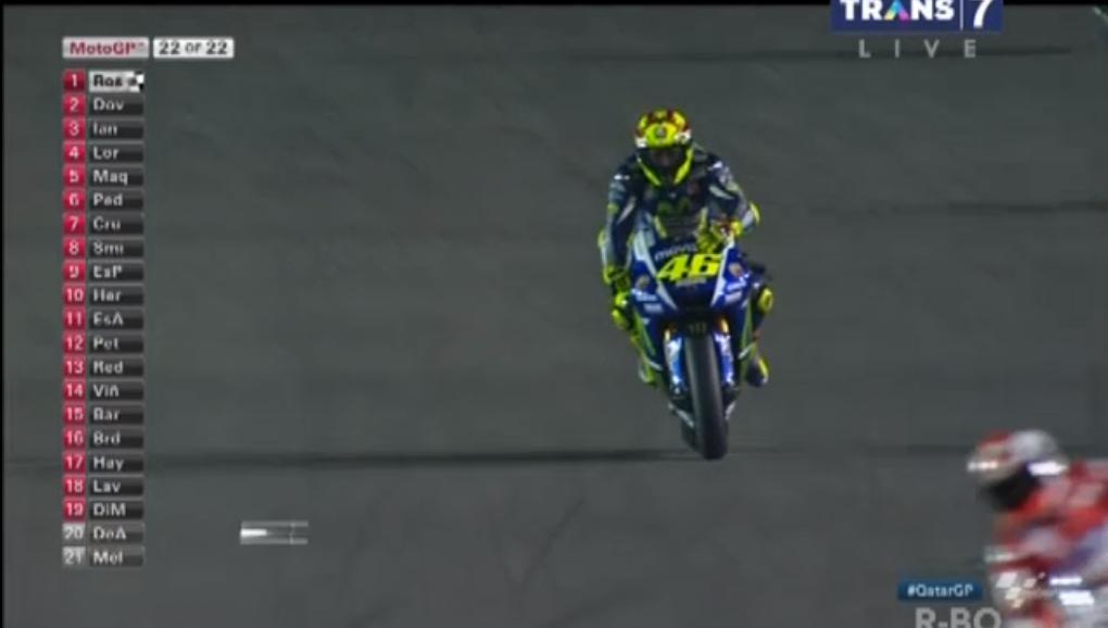 MotoGP : Race pembuka musim 2015 . . Valentino Rossi finish pertama di sirkuit Losail Qatar . . Ducati is back !