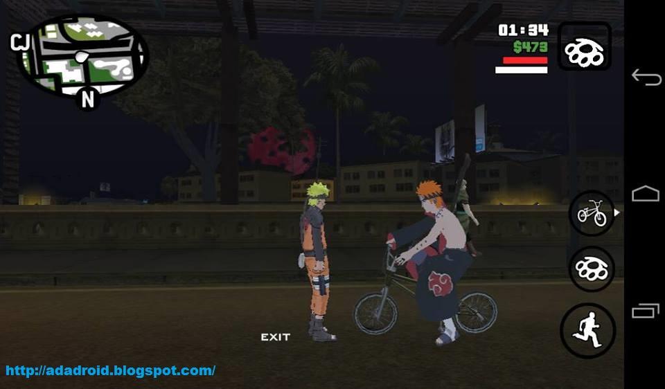 GTA San Andreas Modpack Naruto by Lutfi Final V Apk Android