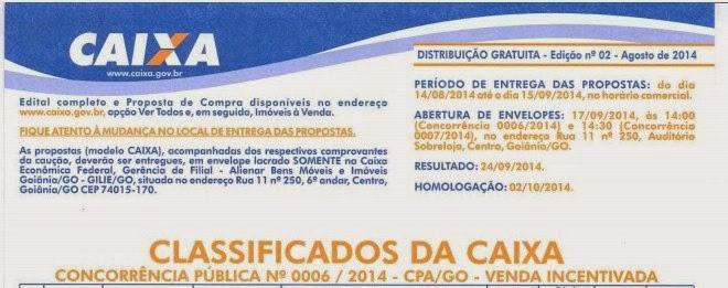 CAIXA abre concorrência pública para venda de imóveis em vários municípios