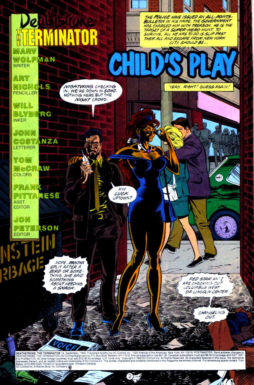 Deathstroke (1991) Issue #14 #19 - English 3