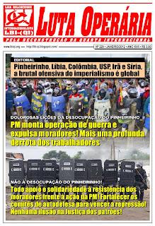 LEIA A EDIÇÃO DO JORNAL LUTA OPERÁRIA, Nº 229, JANEIRO/2012