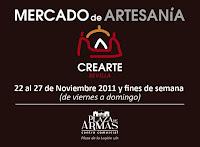 Desde el 22 de noviembre de 2011, Crearte Sevilla, Mercado de Artesanía en el Centro Comercial Plaza de Armas