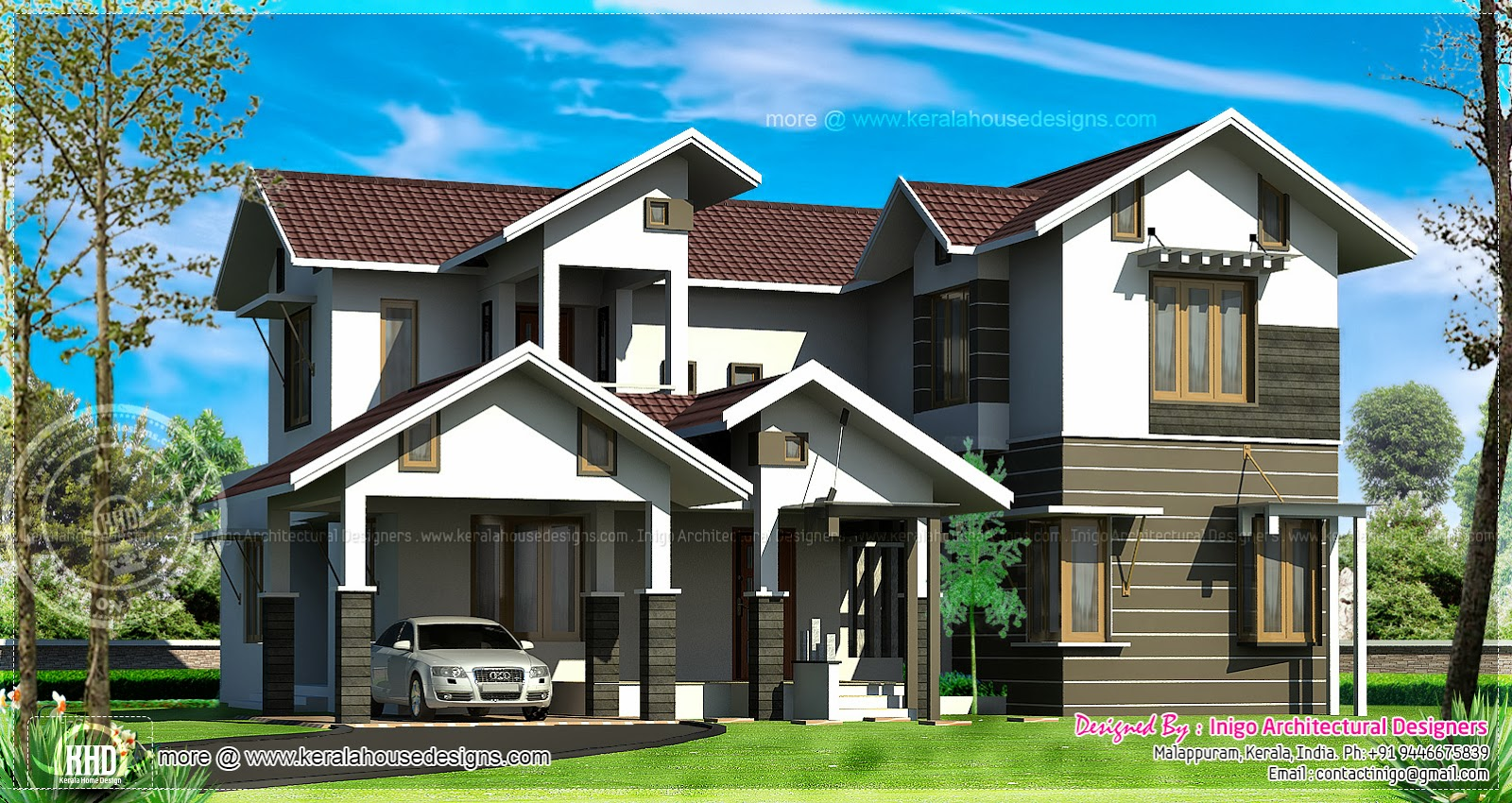 sq meter bedroom villa home kerala plans