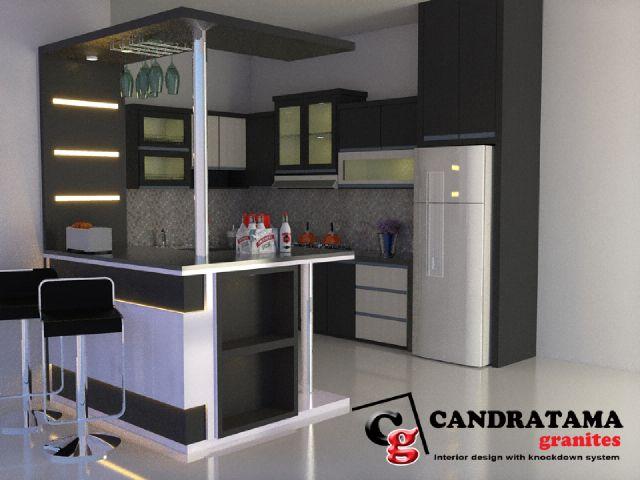 Granit Hitam Untuk Kitchen Set Dan Mini Bar Jasa Interior Kediri