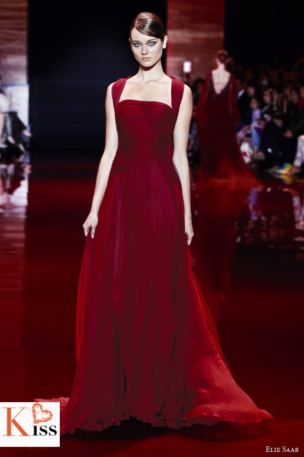 Red Elie Saab Fall/Winter 2013-2014 Couture