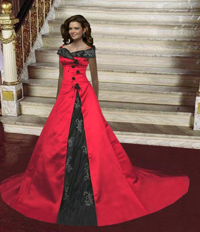 Black and red wedding dresses design wedding dress for Images of black wedding dresses