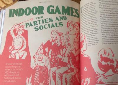 page describing indoor games for parties
