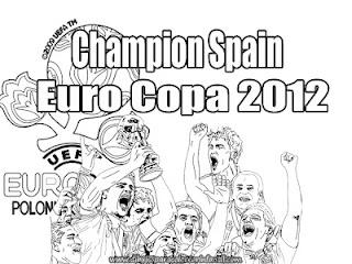 Seleccion de España Campeón de La Euro Copa 2012 para colorear
