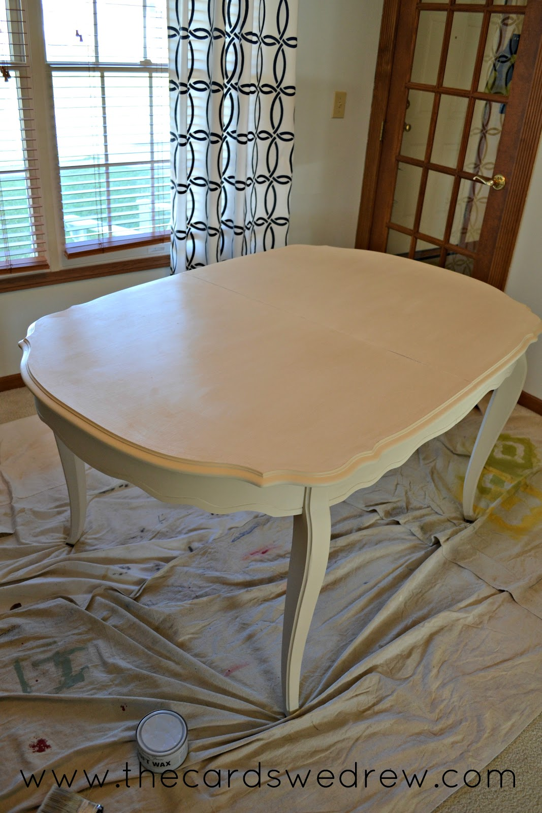 chalk paint dining room table upcycle adventure the cards we drew