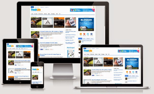 FreshLife V3 Responsive Blogger Template