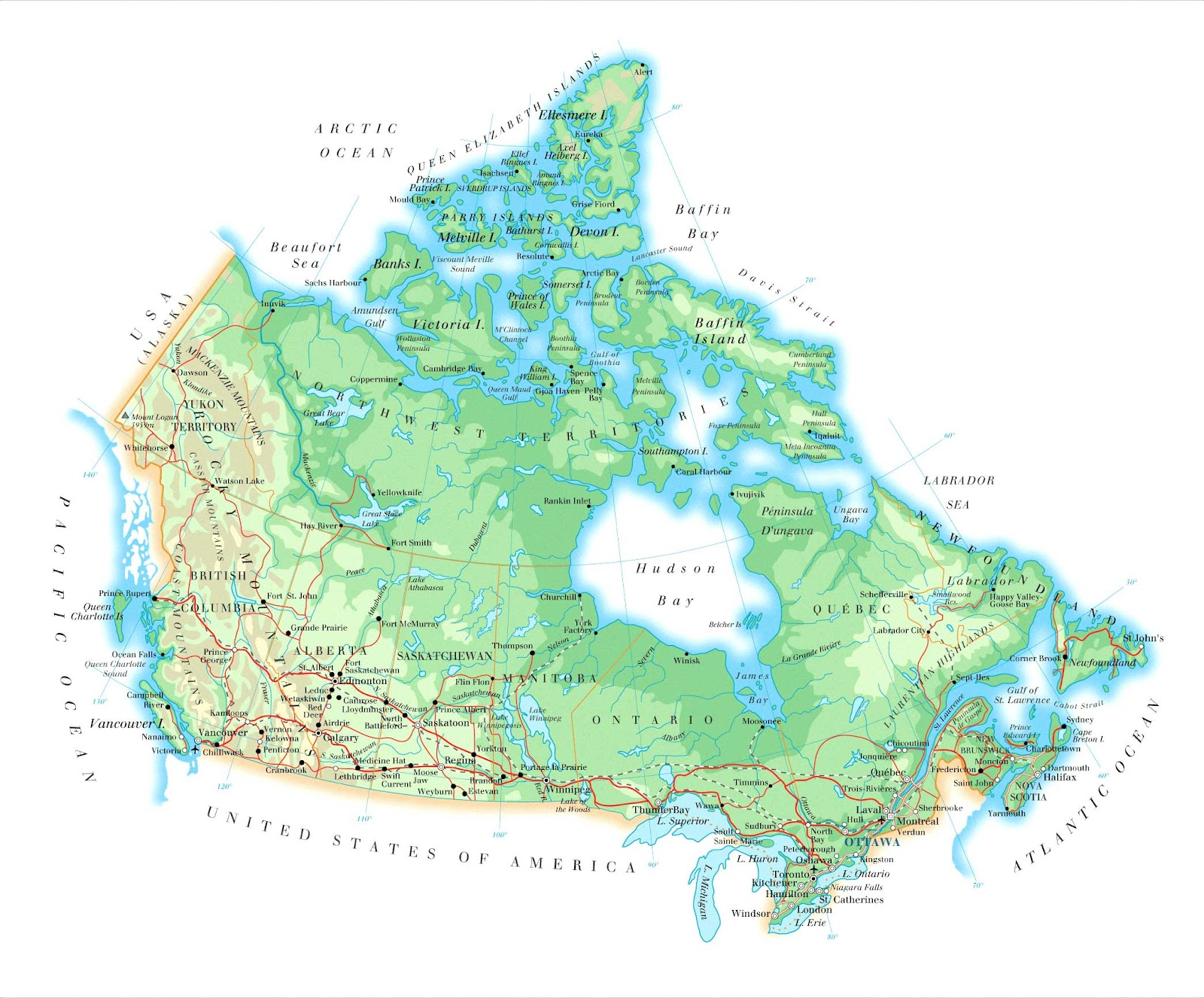a geography of canada Location, description and geography of alberta and major cities.