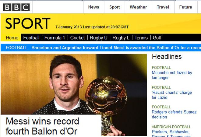 ¡La prensa mundial cae ante los pies de Messi!