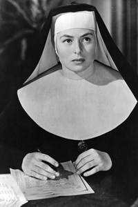 Ingrid Bergman plays a nun