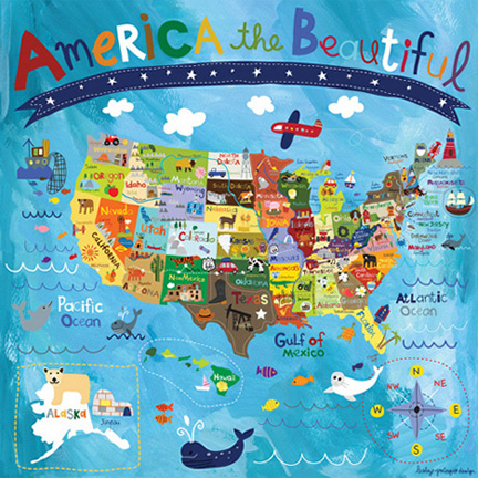 America the Beautiful   Lesley Grainger Design  America