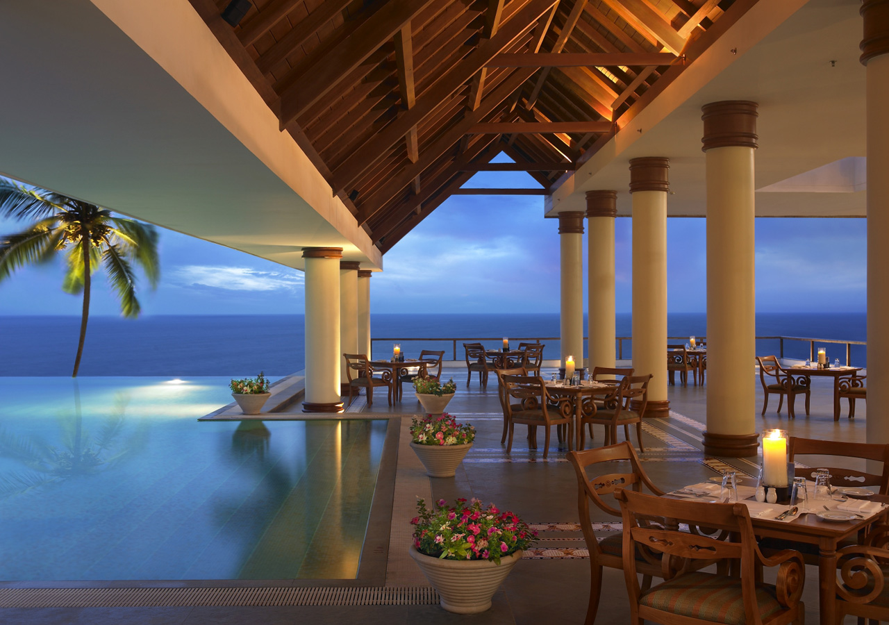 Luxury life design the leela kovalam beach india for Top design hotels india