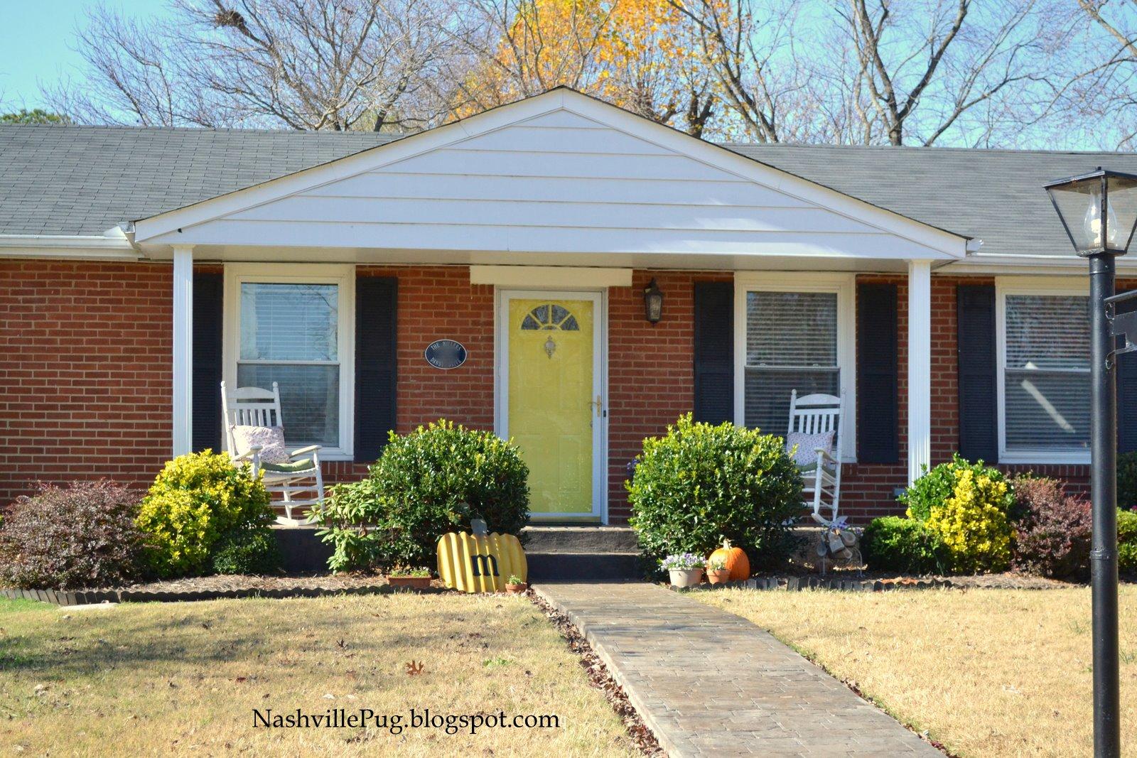 Nashvillepug yellow door yellow door what do you see for Front door yellow house