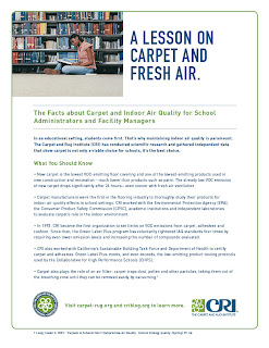 Carpet, Asthma & Allergy for School Administrators, Facility Managers