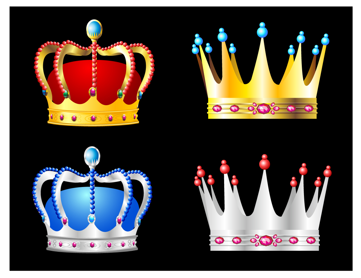 宝石を散りばめた高貴な王冠 luxury jewelry gold crown nobility vector イラスト素材