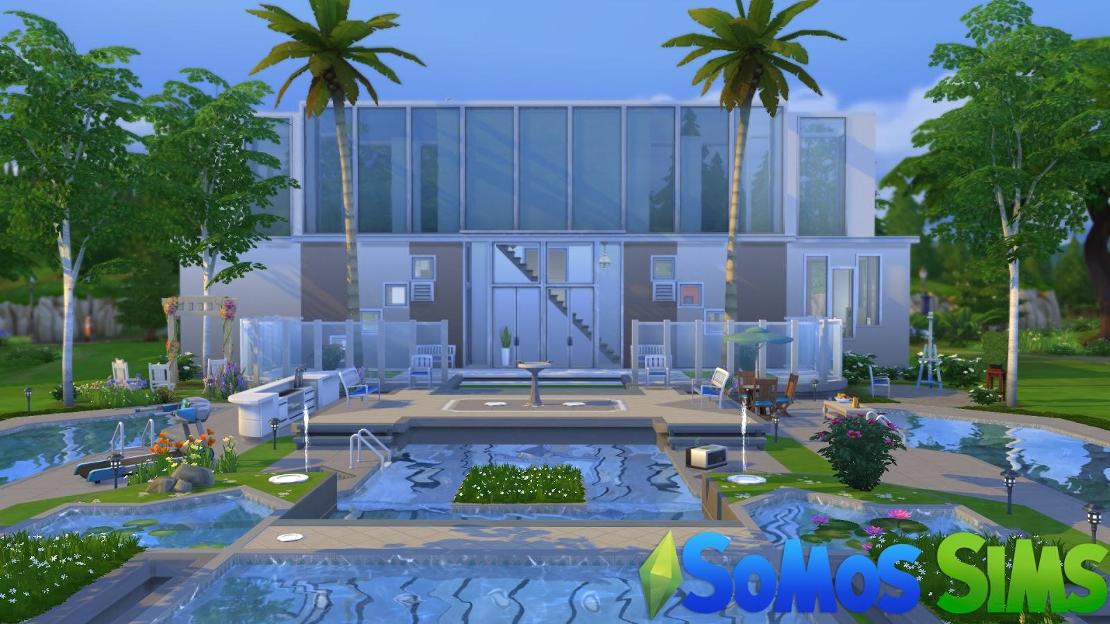 Casa da piscina download para ts4 somos sims for Piscina sims 4