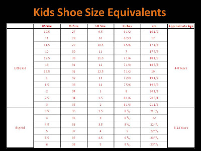 Uk Child Shoe Size Conversion