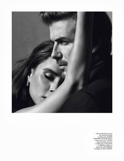 Victoria and David Beckham in Vogue Paris