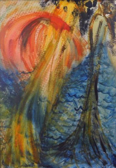 Forest, painting by Janaki Anand ( part of her portfolio on www.indiaart.com)