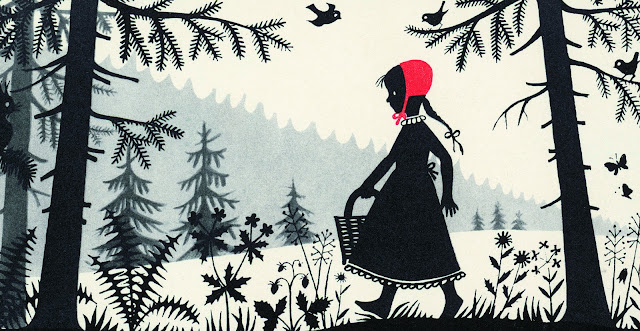 """Little Red Riding Hood"" illustration by Divica Landrová, 1959. Taschen, 2011."