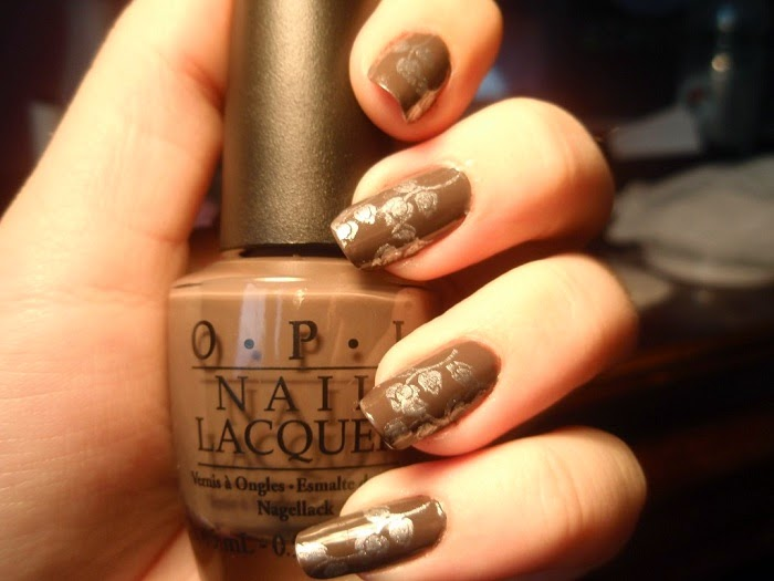 Light Brown Nail Polish Designs Hession Hairdressing