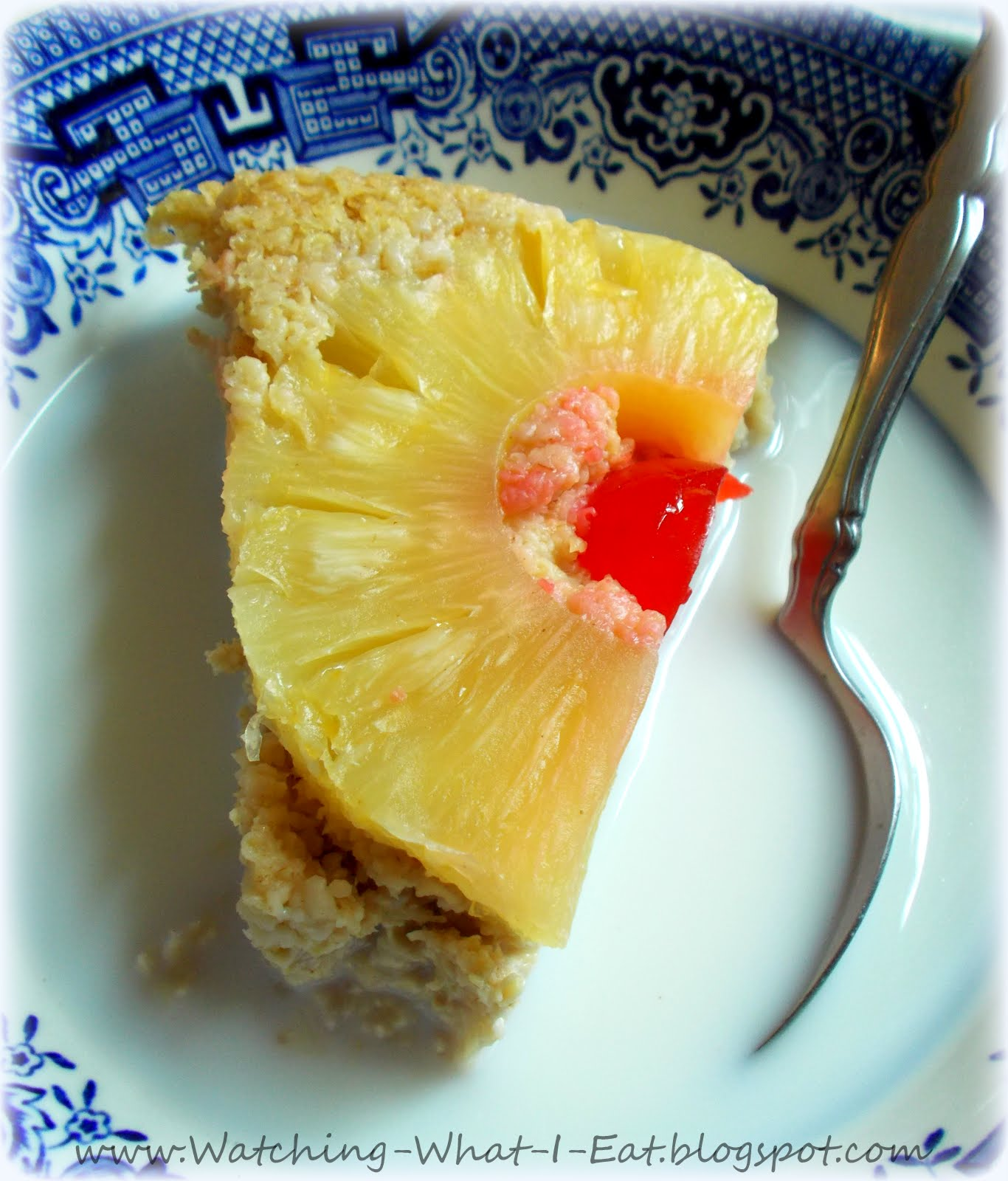 Watching What I Eat: Pineapple Upside-Down Oat Bran Breakfast Cake
