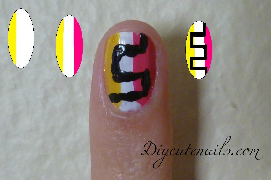 diy cute nailscom tribal nails art