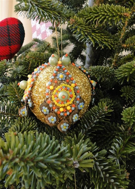 Christmas Ornament Mixed Media by Ukrainian American Artist Daria Iwasko from New York