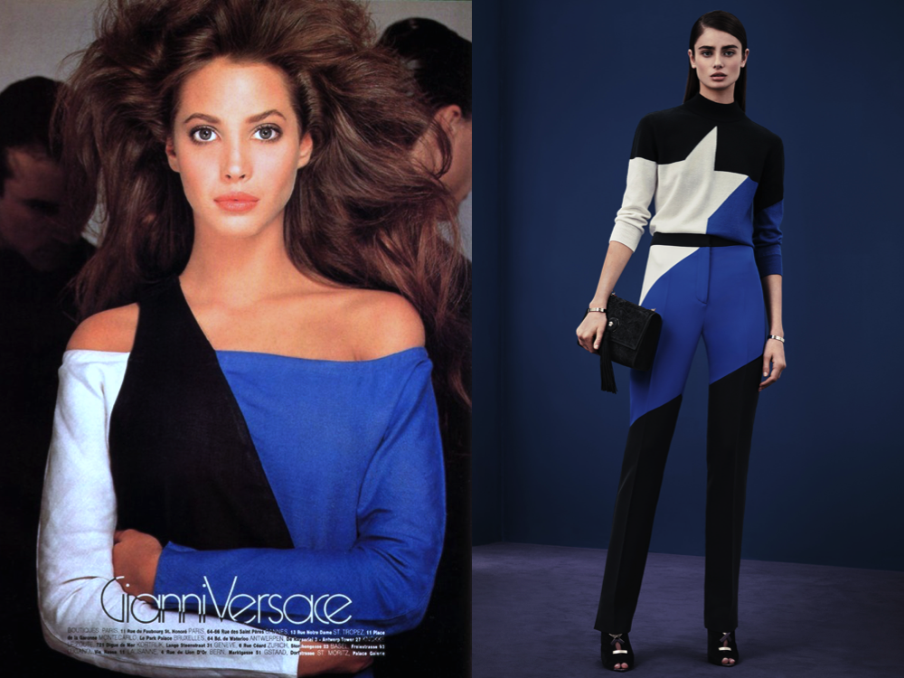 ... in 1987, worn by Christy Turlington in an advertisement photographed by Richard Avedon [left], might have been an inspiration to Donatella Versace's Pre ...