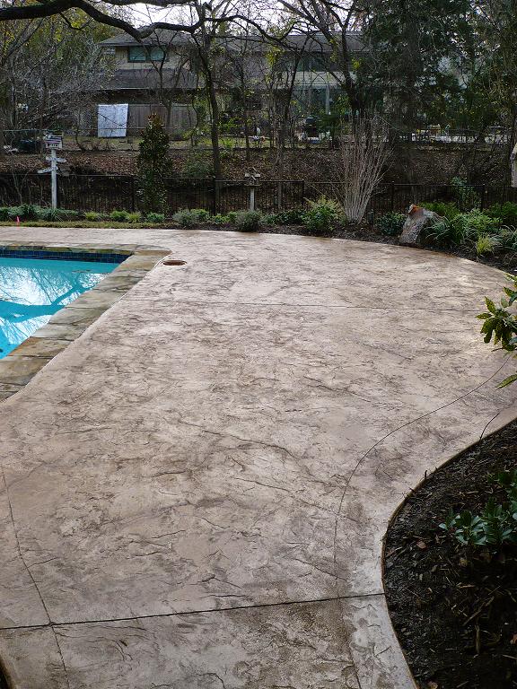 Hormig n impreso en piscina textura piedra pavimentos for Hormigon impreso para piscinas