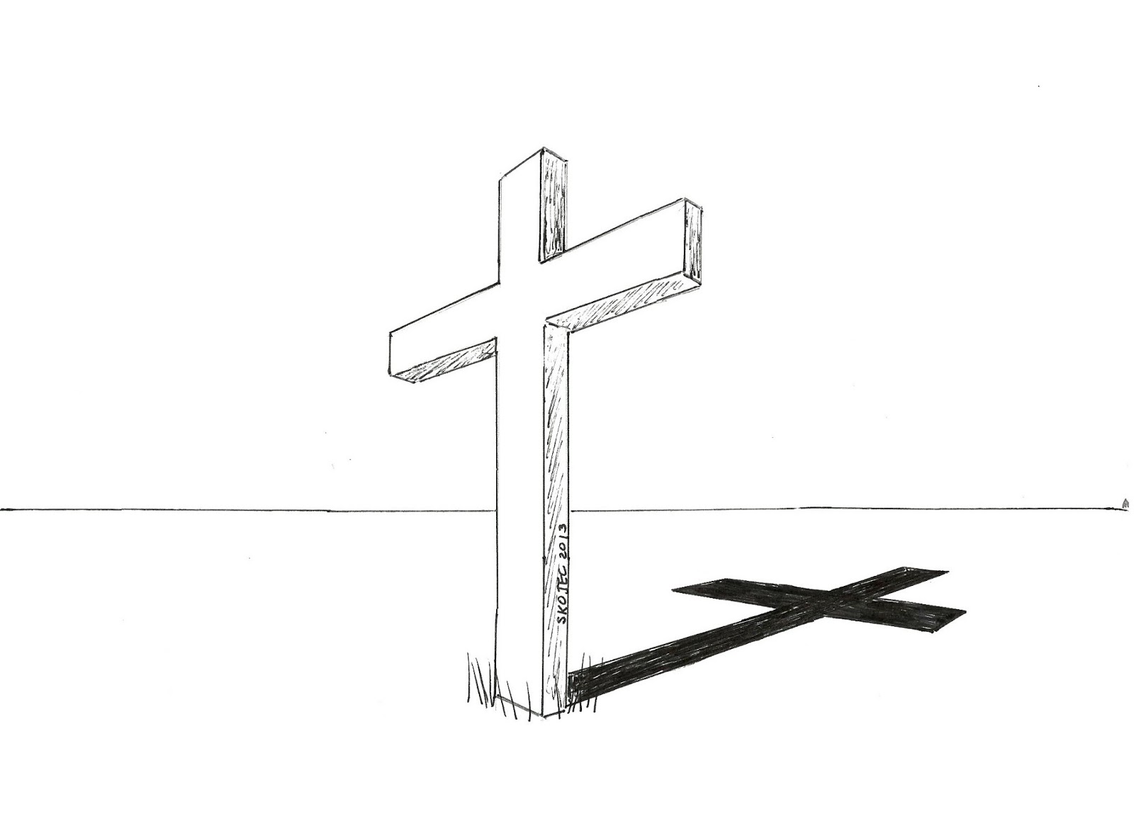 Simple Cross Line Art : Art class ideas perspective crosses